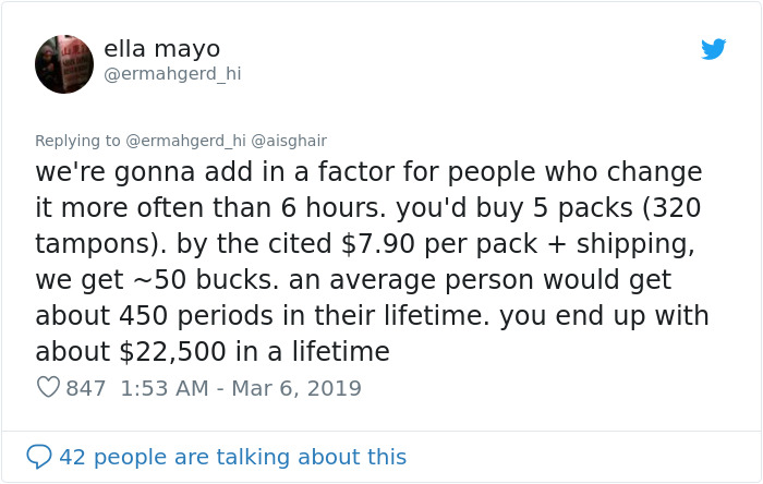 Man Tells Women To Stop Whining About Tampon Prices Cause They Only Need 7 Per Period, Gets Roasted Immediately