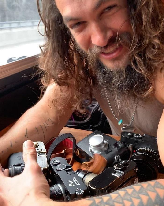 Jason Momoa Model: Jason Momoa Shows Off His Impressive Collection Of Leica