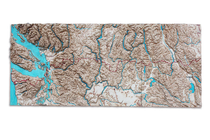 3d Map Of New Zealand.I Cut 3d Maps In Wood To Show How Incredibly Beautiful Our Planet Is