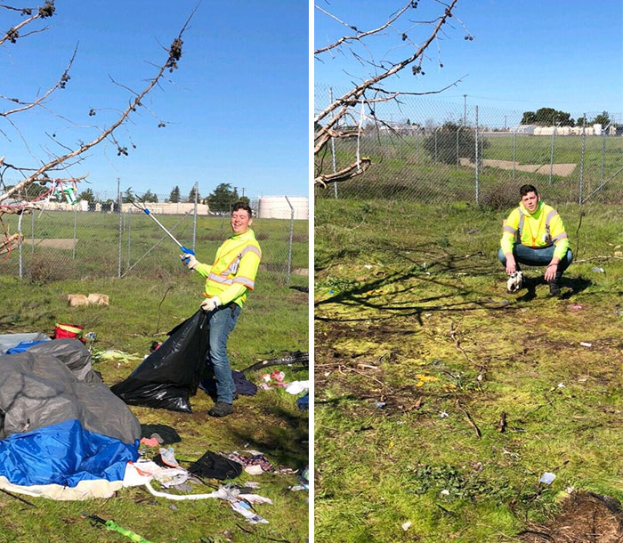 Cleaning Up Homeless Camps! #trashtag 260 Kgs, Only Took About An Hour!