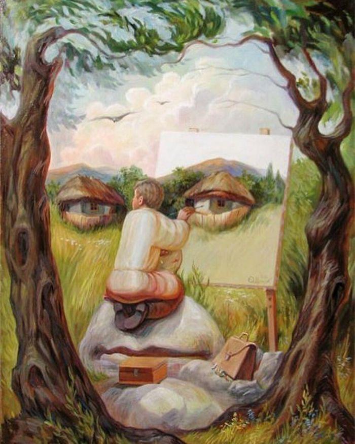 Self-Portrait Under Lime Trees