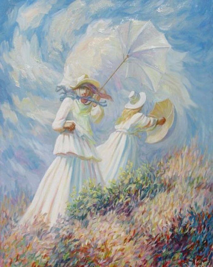"Claude Monet ""A Windy Day"""