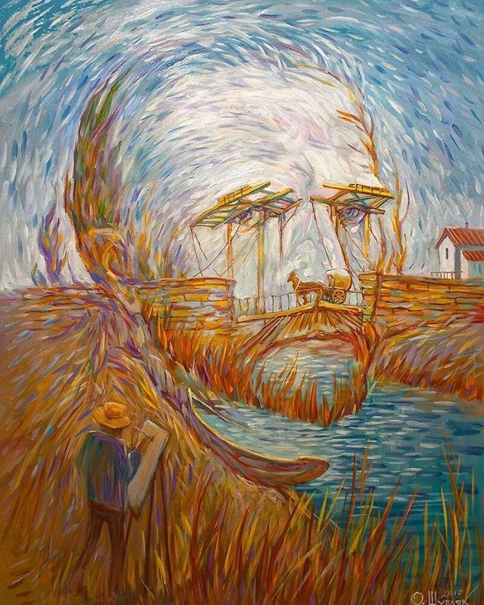 """Vincent Van Gogh """"Langlois Bridge At Arles"""""""