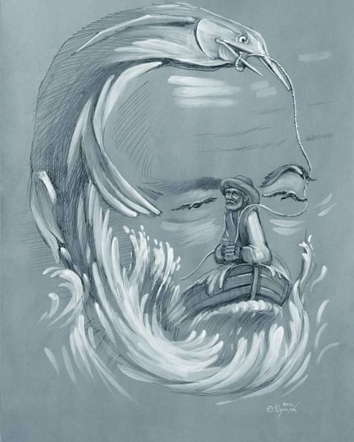 """Ernest Hemingway """"The Old Man And Big Fish"""""""