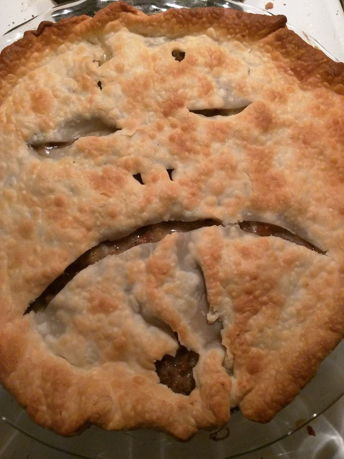 When I Ask My Husband To Cut Vents In The Turkey Pot Pie