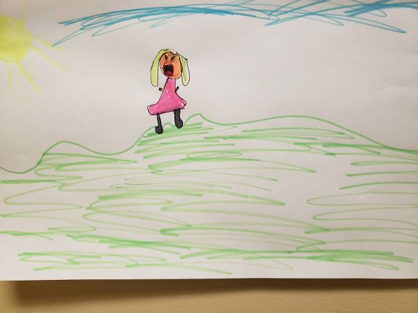 My Daughter Hates The Sun And She Drew Me A Picture Of Her Yelling At The Sun