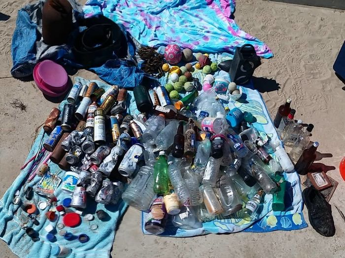 #trashtag We Collected All This From Our Small Beach At Kites Cove