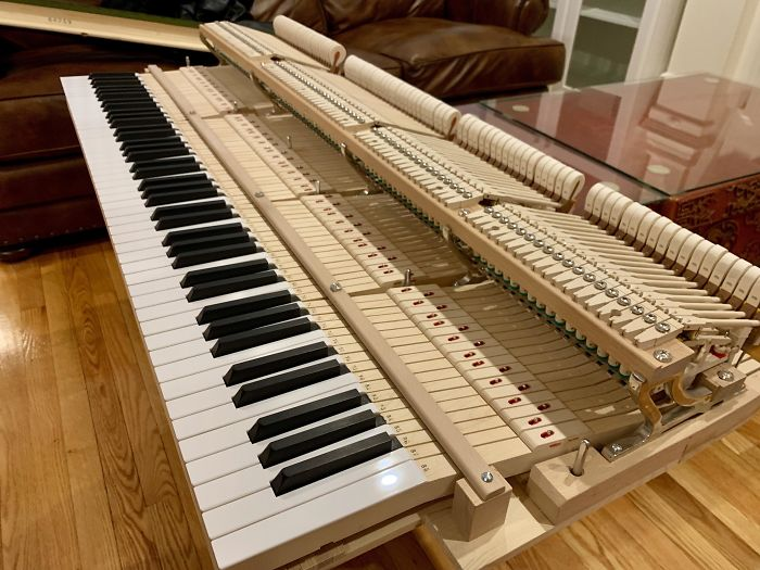 "Piano Tuner Opened Up My Piano And Slid It Out Of Its ""Shell"" To Straighten The Hammers"