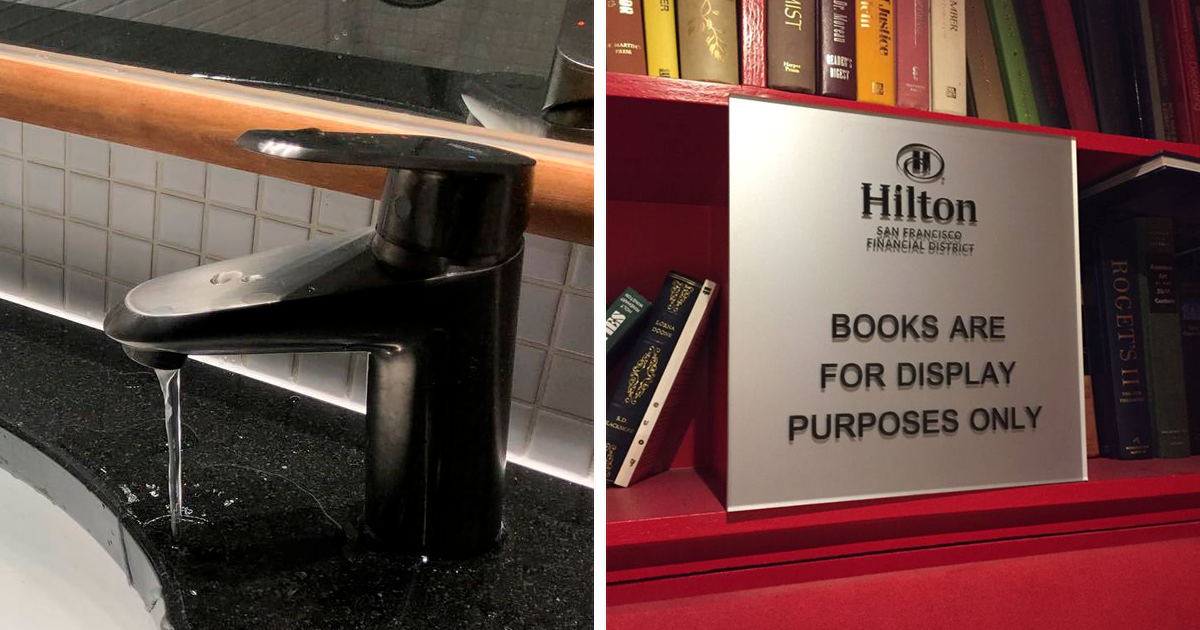 39 People Share Pics Of Various Hotel Fails From Their Trips