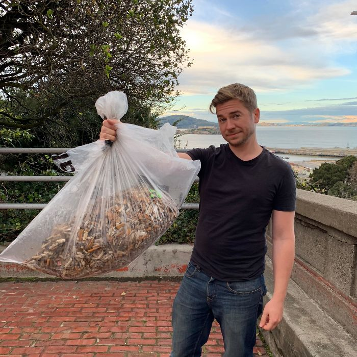 Over 8,000 Cigarettes Picked Off The Street To Be Recycled #trashtag