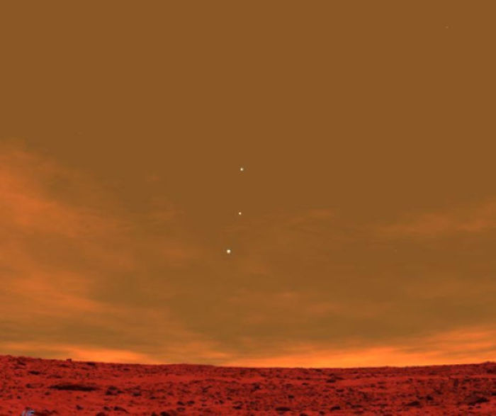 Venus, Jupiter And Earth As Seen From Mars