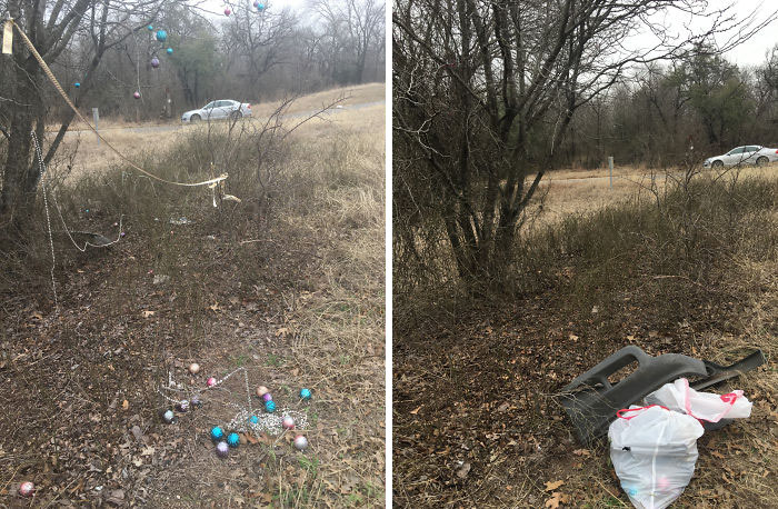 Someone Thought Christmas Should Be Year Round, We Thought Differently #trashtag