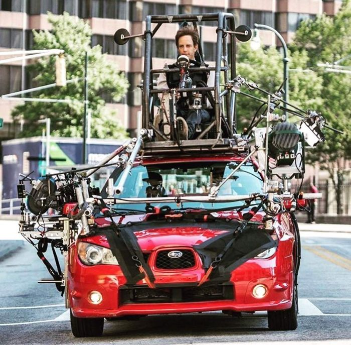 'baby Driver' Behind The Scenes: While Actors Are Busy Performing, The Real Driver Is On Top Of The Car