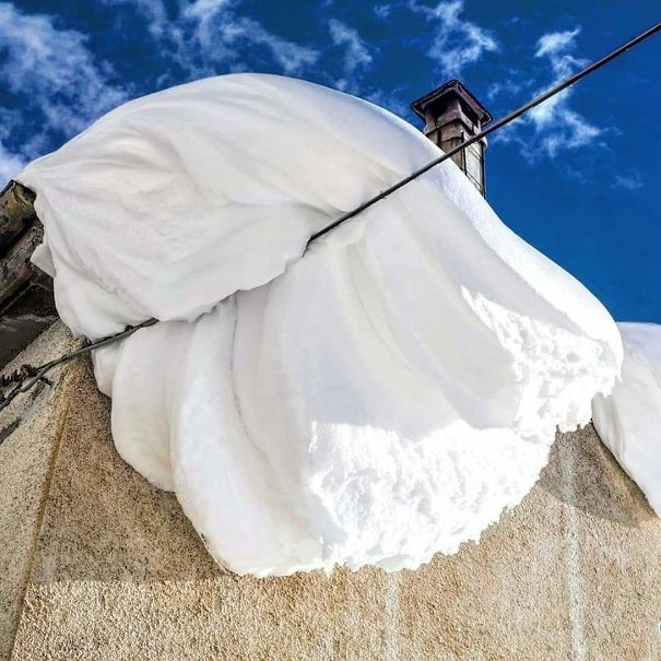 Snow In Capracotta (Italy) Looks Like Whipped Cream