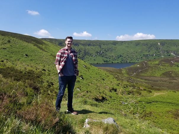 This Picture My Brother Took In Ireland Makes It Look Like He's A Giant Walking Around The Countryside