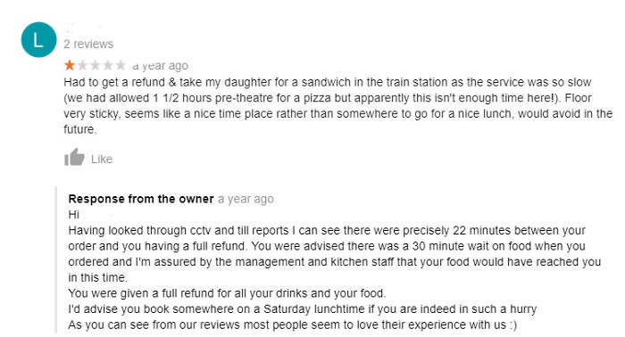 Woman Goes To A Sit-Down Restaurant And Expects To Be Served Immediately. Restaurant Responds In Kind.