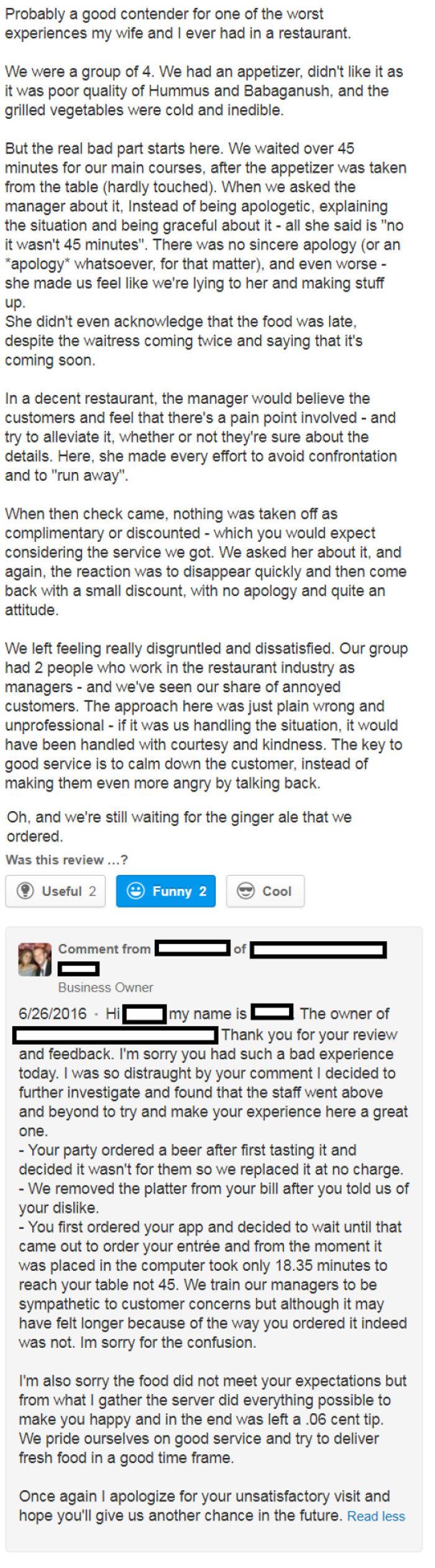 Restaurant Owner Exposes Stuck-Up Customer