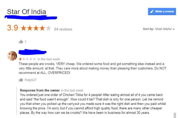 Classic Google Review Gag!