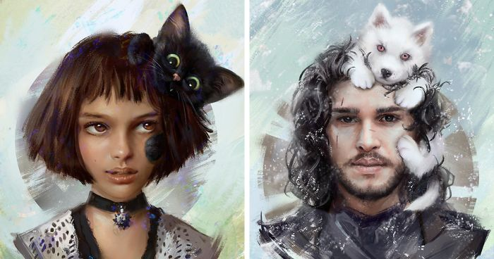 Artist Illustrates What The Pets Of Famous Characters Would Look Like (8 Pics)