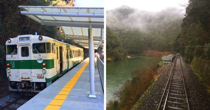 This Train Station In Japan Has No Entrance Or Exit And Is Built For Sightseeing Purposes Only