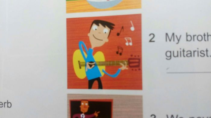 This Picture In My English Textbook