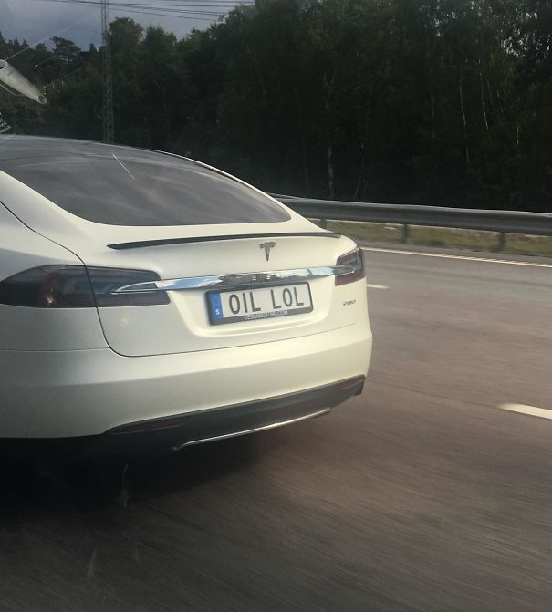 The License Plate On This Tesla