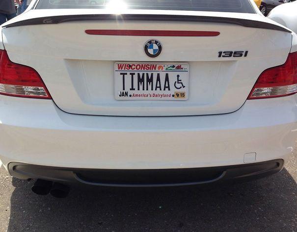 Best Handicap License Plate Ever