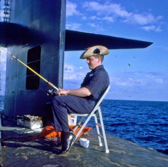 My Dad Fishing... On A Nuclear Submarine 1966