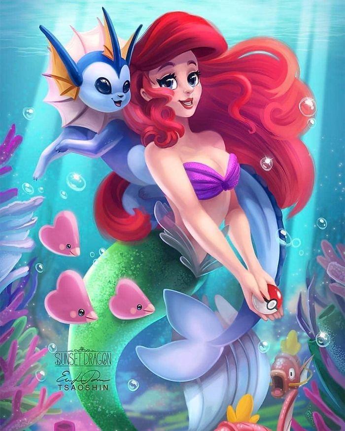 Ariel And Vaporeon