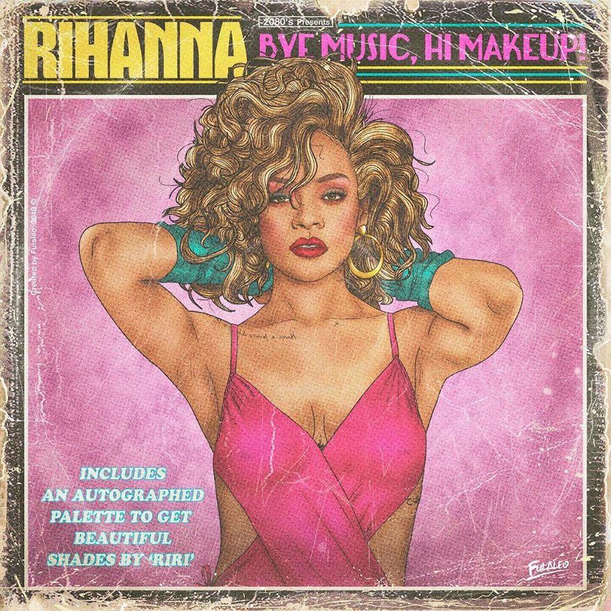 "Rihanna ""Bye Music, Hi Makeup!"""