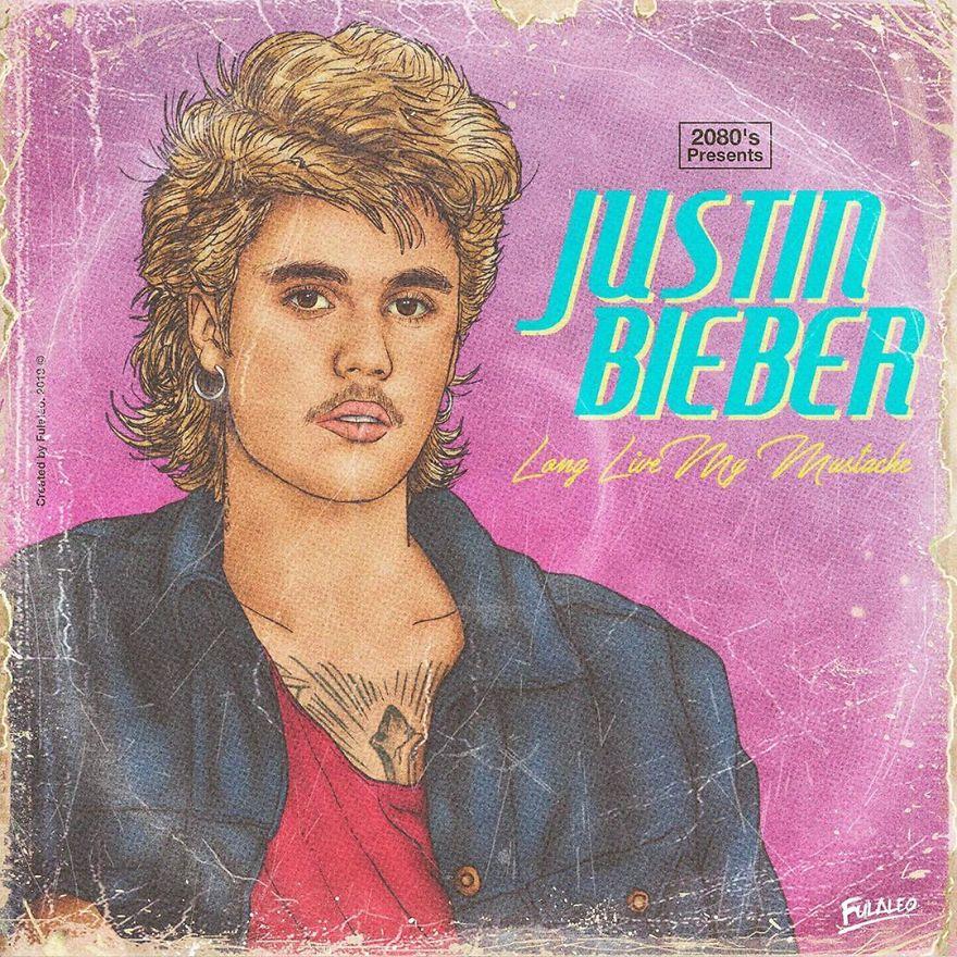 "Justin Bieber ""Long Live My Mustache"""