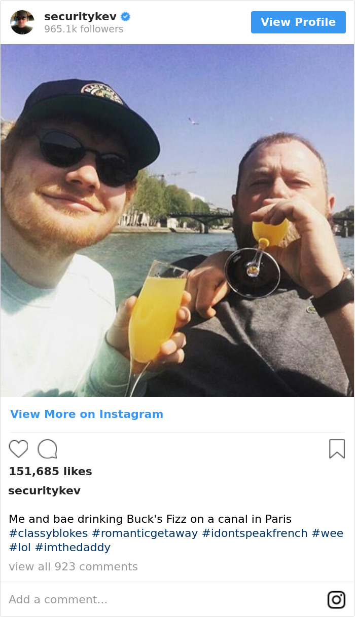Me And Bae Drinking Buck's Fizz On A Canal In Paris #classyblokes #romanticgetaway #idontspeakfrench #wee #lol #imthedaddy