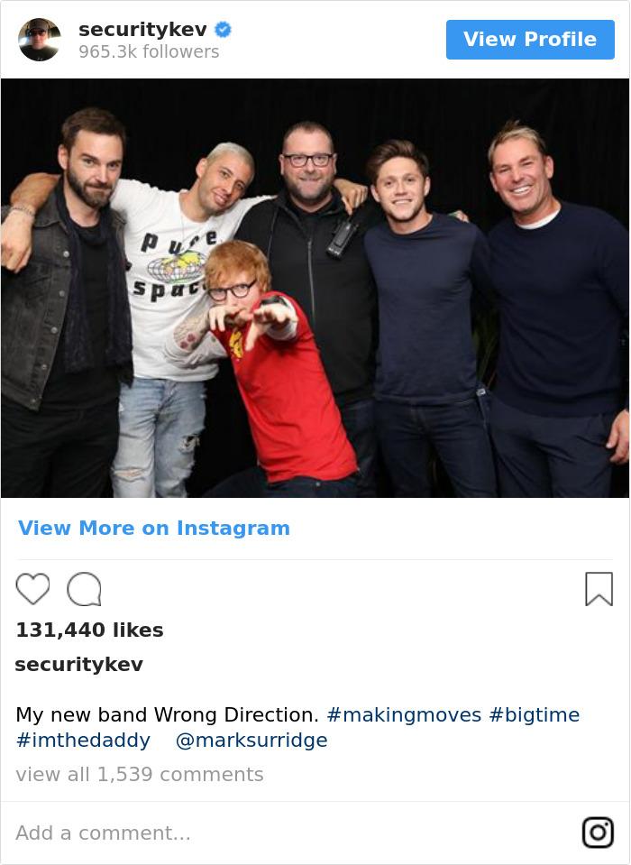 My New Band Wrong Direction. #makingmoves #bigtime #imthedaddy 📸 @marksurridge