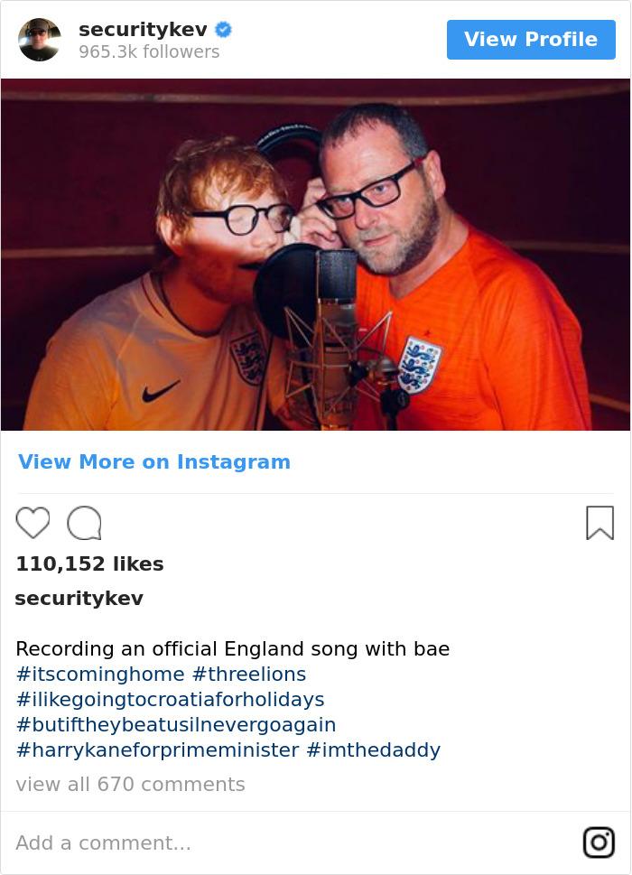 Recording An Official England Song With Bae #itscominghome #threelions #ilikegoingtocroatiaforholidays #butiftheybeatusilnevergoagain #harrykaneforprimeminister #imthedaddy