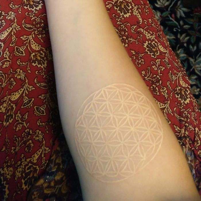 White Mandala Ink Tattoo
