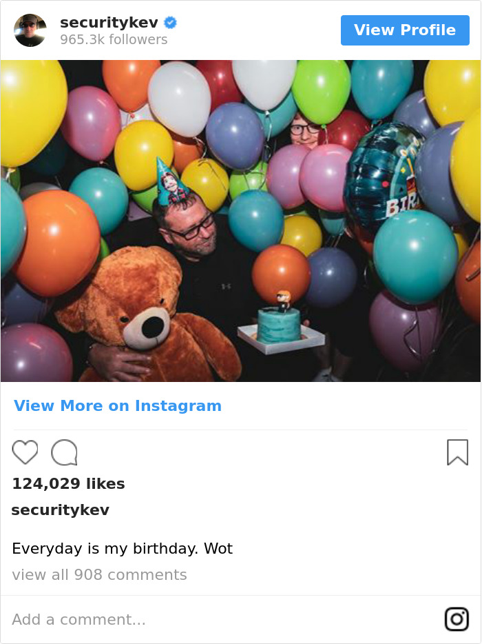 Everyday Is My Birthday. Wot