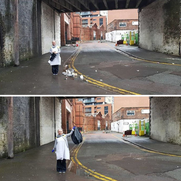 Before & After#trashtag Challenge Is One Of The Social Media Hashtags Worth Time And Effort.it Urges People To Pick A Place Filled With Litter, Clean It Up, And Post Before And After Pictures.volunteers Have Made Beaches, Parks And Roads Trash-Free While Raising Awareness Of The Quantity Of Plastic Litter We Produce. Here Is Mine - Manchester's Mirabel Street. During Strong Winds And After Events At Manchester's Arena Our Little Corner Gets A Full Blast Of Litter Droped By Passing By People.i Hope In No Time We Will Transform Mirabel Street Into The Cleanest Street In Manchester. 🤗😍👏
