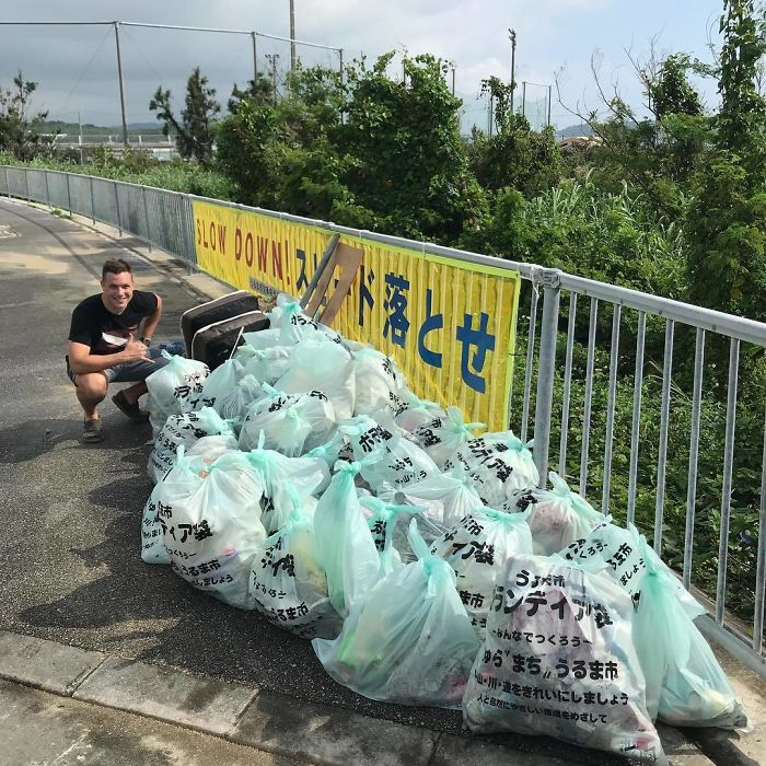 Efforts In North White Beach, Okinawa Japan. #trashtag #trash #beachcleanup #coast #waste #plasticfree #ecofriendly #letsfixthis