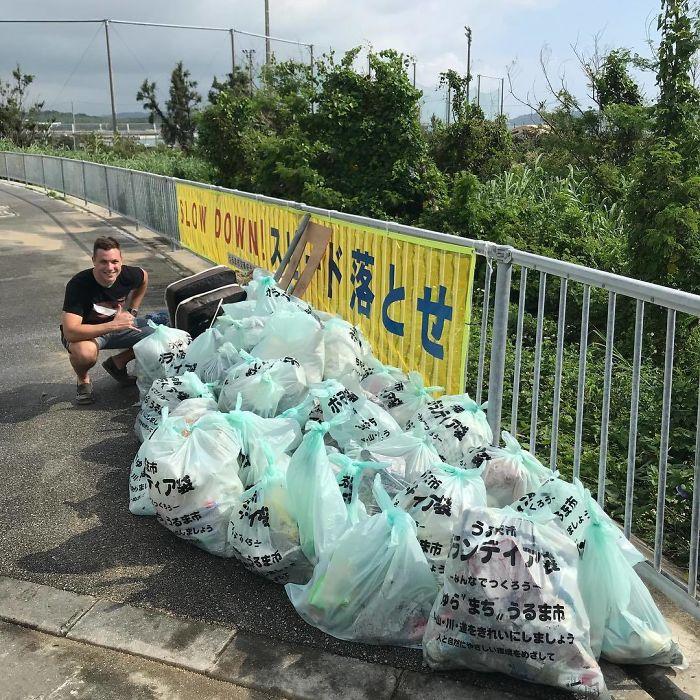 Efforts In North White Beach, Okinawa Japan. #trashtag #trash #beachcleanup #coast #waste #plasticfree #ecofriendly #letsfixthis