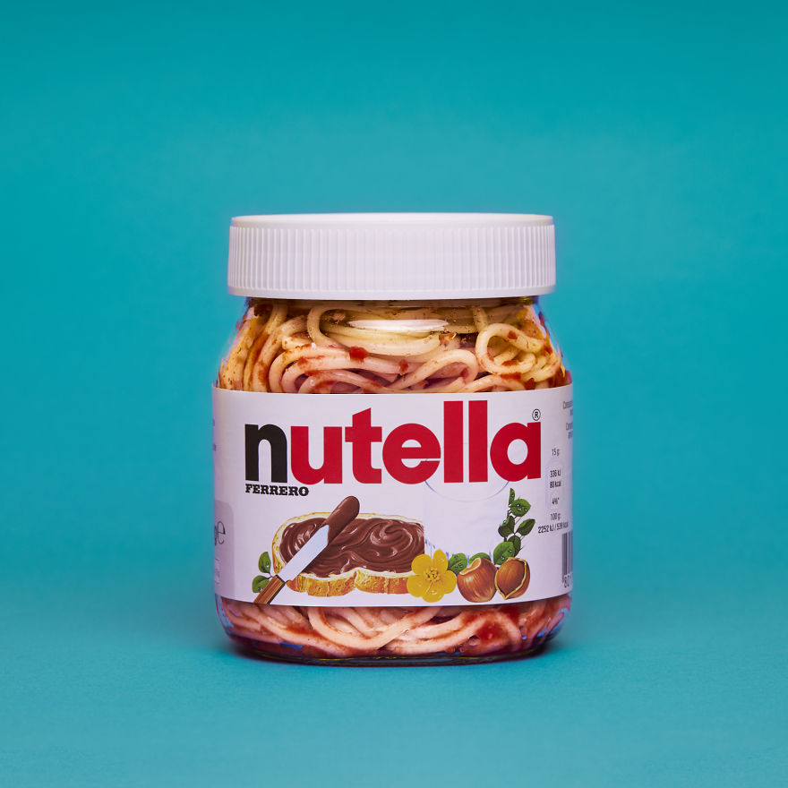 I Created A Pop Art Series Combining Spaghetti With Everyday Objects