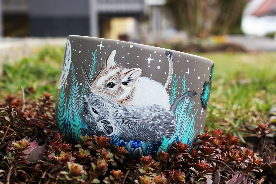 I Hand Paint Your Beloved Pets Into Magical Nature Scenes