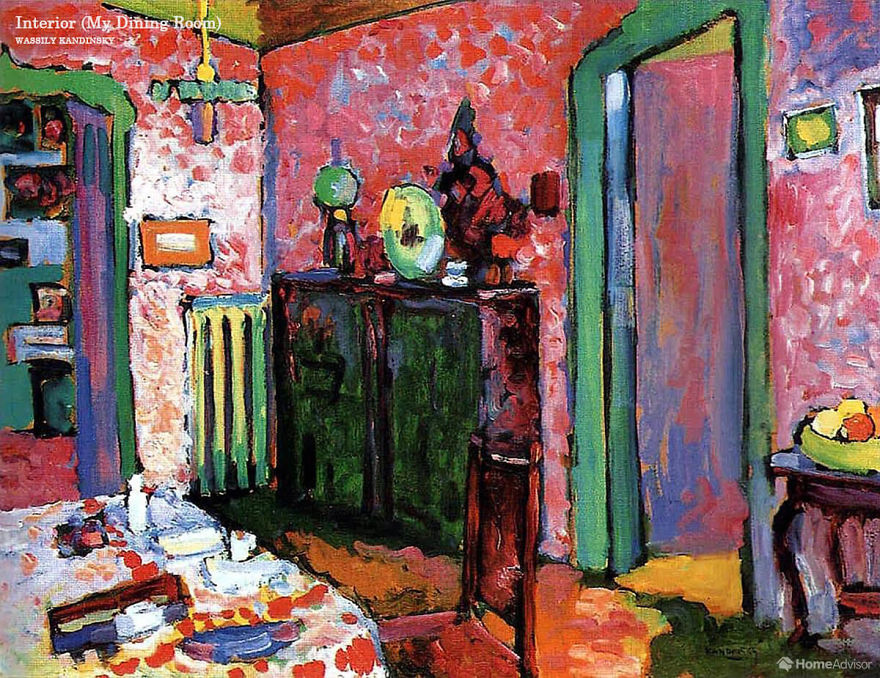 Famous Interior Paintings: Designers Bring The Interior Of Famous Paintings To Life
