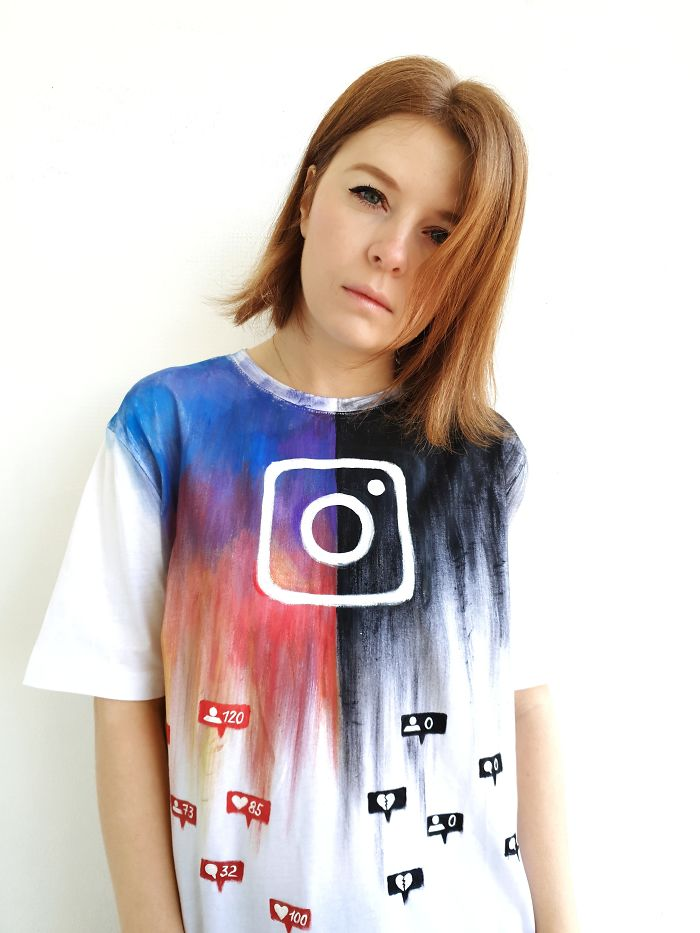 I Created A Hand-Painted T-Shirt To Show How Instagram Can Ruin Our Lives