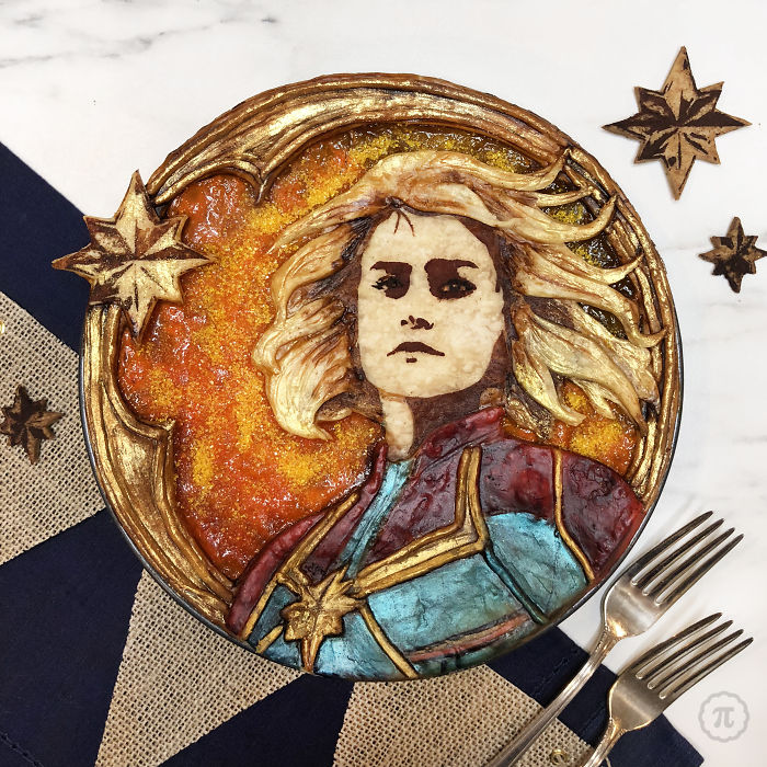 Captain Marvel Apple Pie