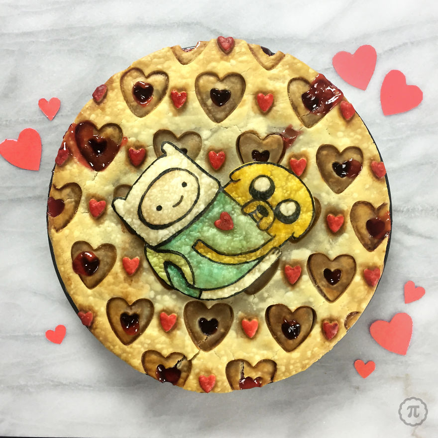 Jake & Finn From Adventure Time Pie