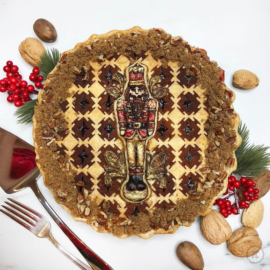 Cranberry Walnut Nutcracker Pie