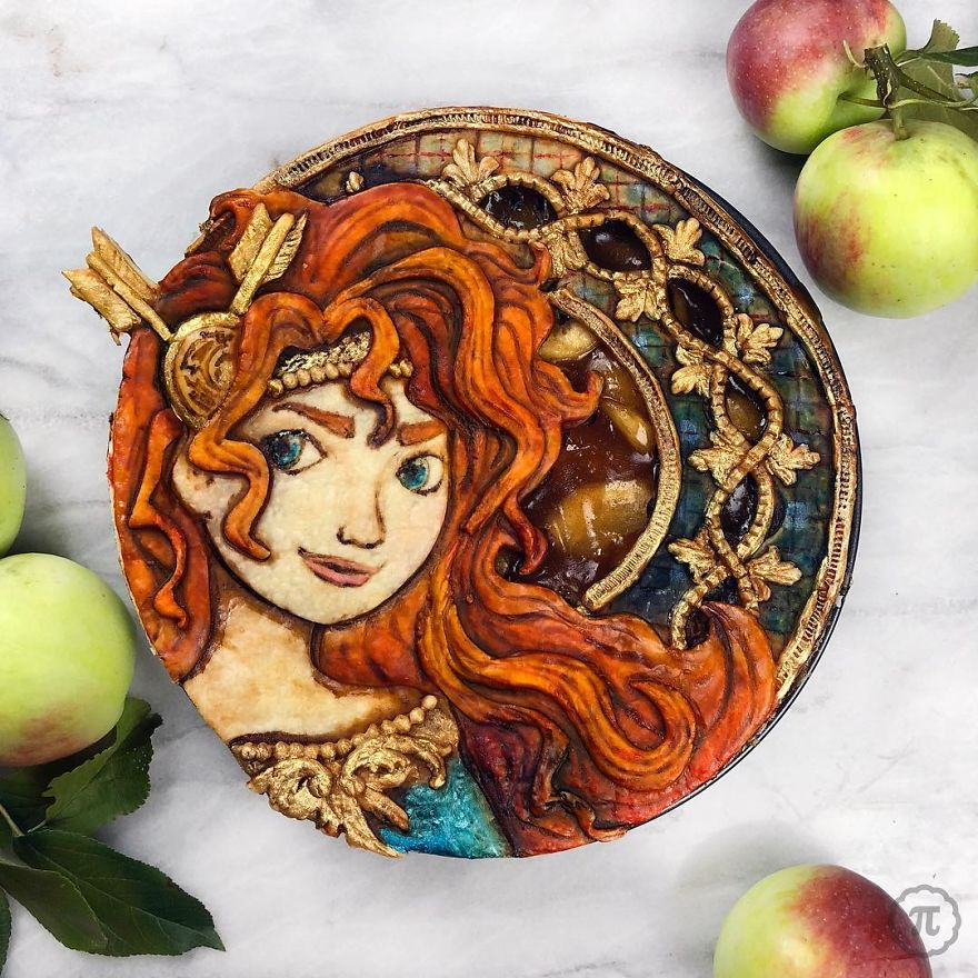 Princess Merida Apple Spice Pie