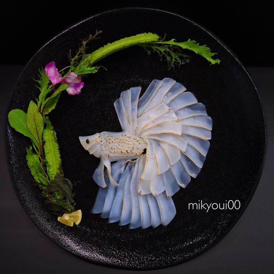 Splendida arte sashimi creata col pesce crudo di mikyoui00