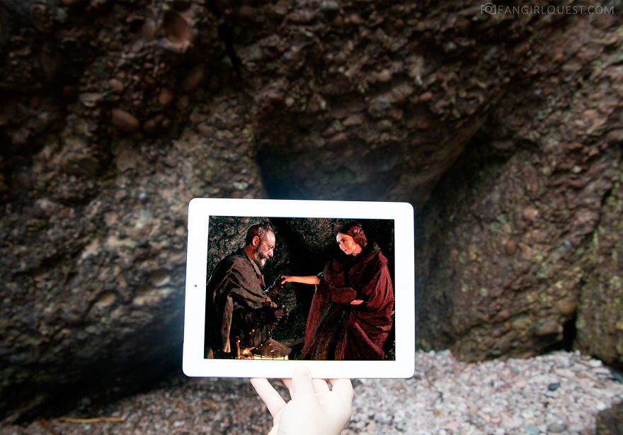 Davos Seaworth And The Red Woman At Cashendun Caves, Northern Ireland