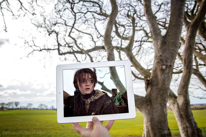 Arya At The Dark Hedges In Northern Ireland